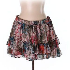 Elizabeth and James Silk Skirt, Size L